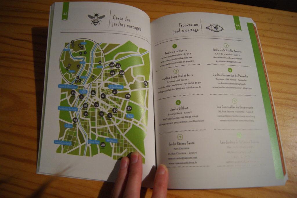 Les jardins partagés dans le guide Agir à Lyon et ses alentours d'Anciela